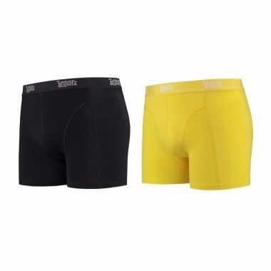 Lemon and soda mannen boxers 1x zwart 1x geel s