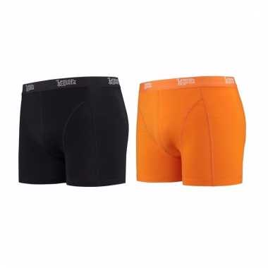 Lemon and soda mannen boxers 1x zwart 1x oranje m