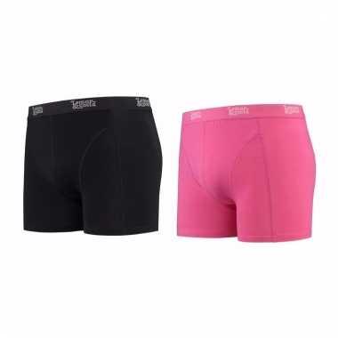 Lemon and soda mannen boxers 1x zwart 1x roze s
