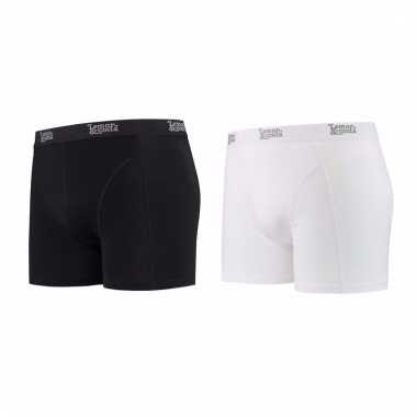 Lemon and soda mannen boxers 1x zwart 1x wit l