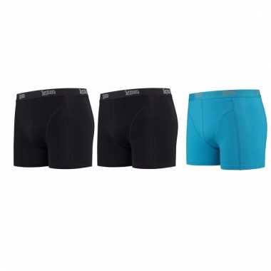 Lemon and soda mannen boxers 2x zwart 1x blauw 2xl