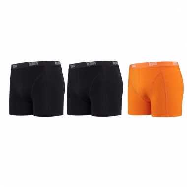 Lemon and soda mannen boxers 2x zwart 1x oranje m