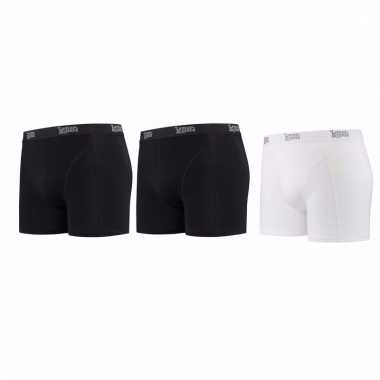 Lemon and soda mannen boxers 2x zwart 1x wit s