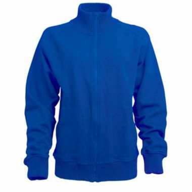 Lemon & soda kobalt blauw sweatvest