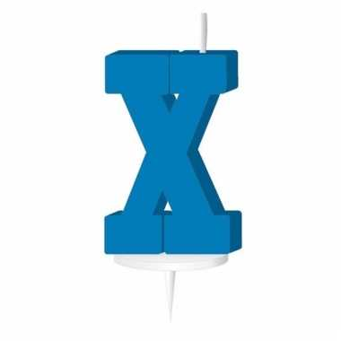 Letter kaarsen blauw x