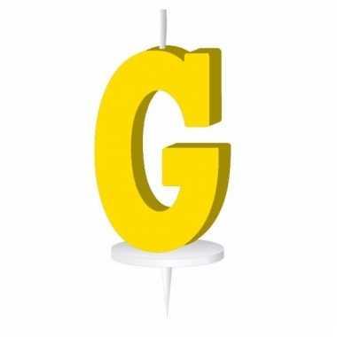 Letter kaarsen geel g