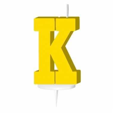 Letter kaarsen geel k