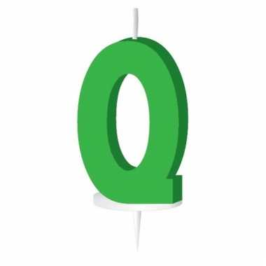 Letter kaarsen groen q
