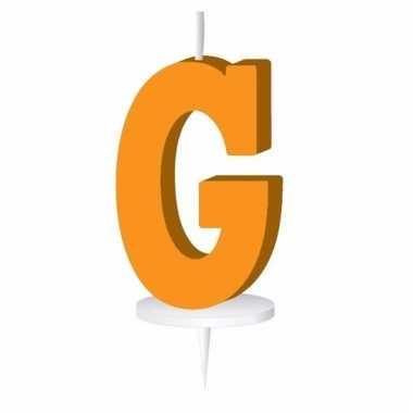 Letter kaarsen oranje g