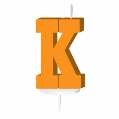 Letter kaarsen oranje k