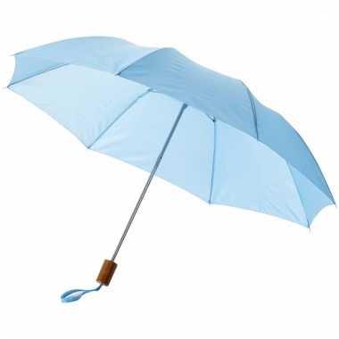 Licht blauwe mini paraplu 35 cm