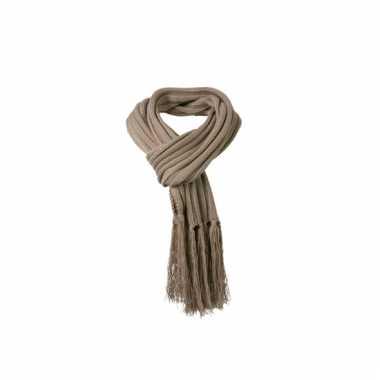 Licht bruine sjaal extra lang voor volwassenen 2 m