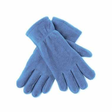 Lichtblauwe fleece handschoenen voor mannen en dames