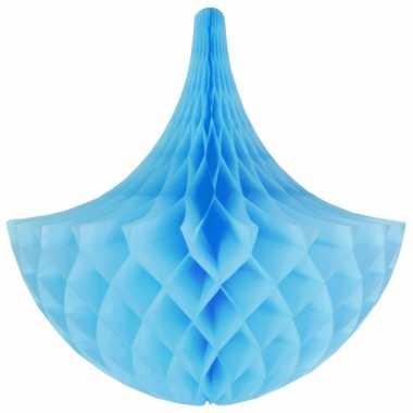 Lichtblauwe kroonluchter versiering 45 cm