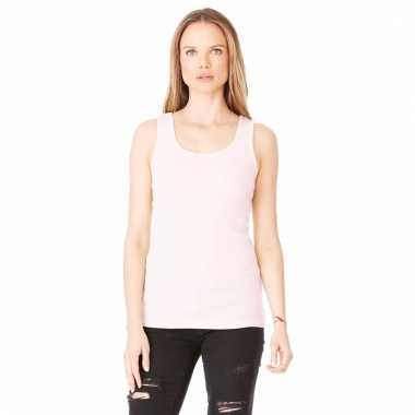Lichtroze dames shirt zonder mouwen