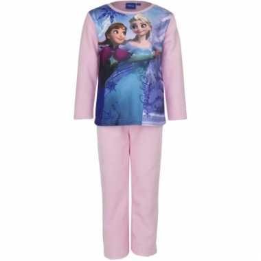 Lichtroze kinder pyjama van frozen