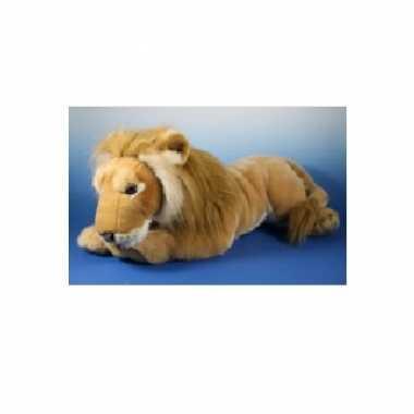 Liggende knuffel leeuw 71 cm