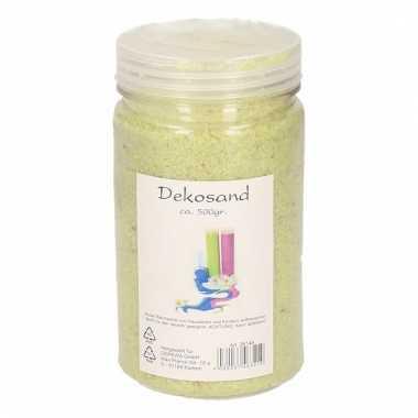 Lime groen zand korreltjes 500 gram