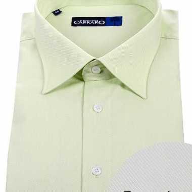 Lime overhemd met extra lange mouwen