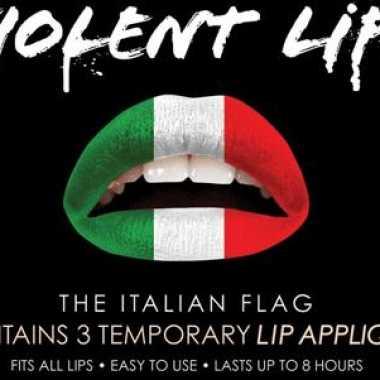 Liptattoo italiaanse kleuren