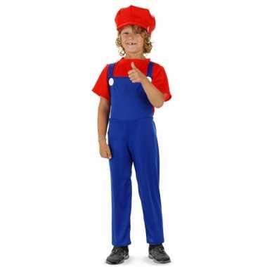 Loodgieter mario verkleed pak rood voor jongens