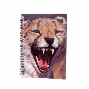 Luipaard schrijfboekje 3d 21cm