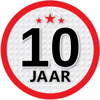 Luxe 10 jaar stickers