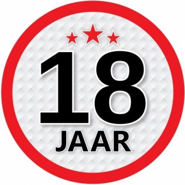 Luxe 18 jaar stickers