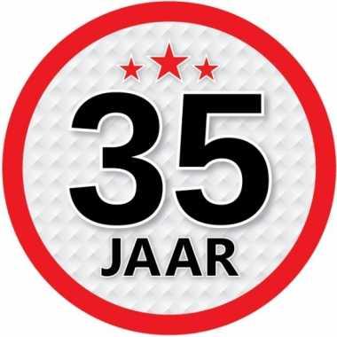 Luxe 35 jaar stickers
