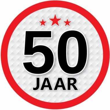 Luxe 50 jaar stickers