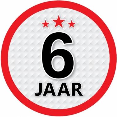 Luxe 6 jaar stickers