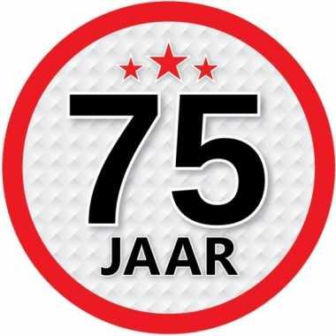 Luxe 75 jaar stickers