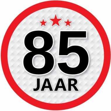 Luxe 85 jaar stickers