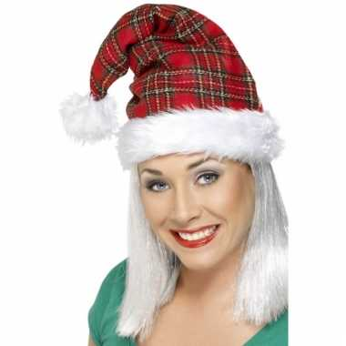 Luxe geruite kerstmutsen