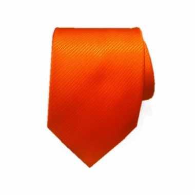 Luxe heren stropdas oranje