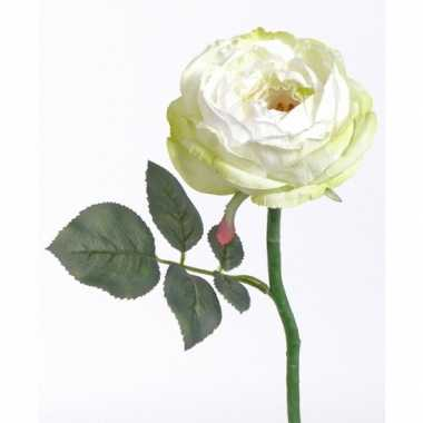 Luxe kunst rozen wit 33 cm