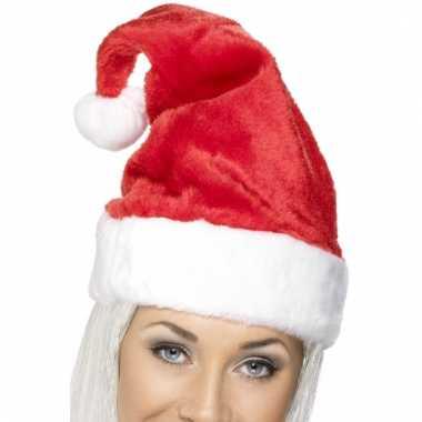 Luxe pluche kerstmuts