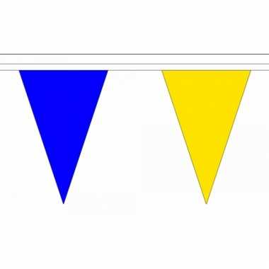 Luxe vlaggenlijnen blauw met geel