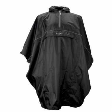 Luxe zwarte regenponcho