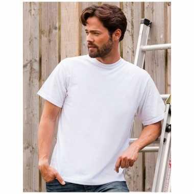 Maat 4xl heren t-shirts wit