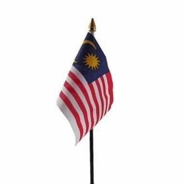 Maleisie luxe zwaaivlaggetje polyester
