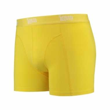 Mannen boxer geel gekleurd katoen lemon and soda