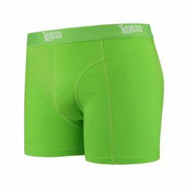 Mannen boxer lime groen gekleurd katoen lemon and soda