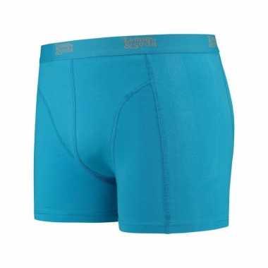 Mannen boxer turquoise blauw gekleurd katoen lemon and soda