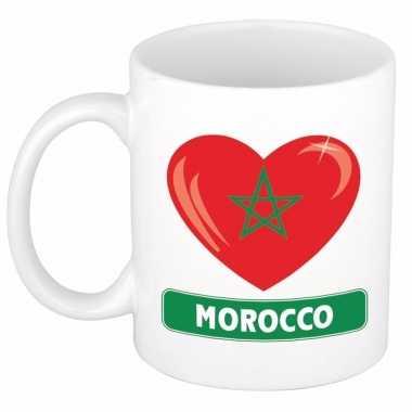Marokkaanse vlag hart mok / beker 300 ml