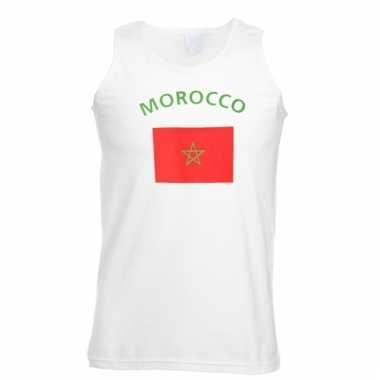 Marokko vlaggen tanktop/ t-shirt
