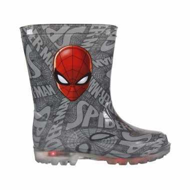 Marvel spiderman regenlaarzen met led licht voor kinderen