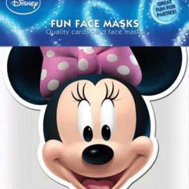 Maskertje met minnie mouse afbeelding