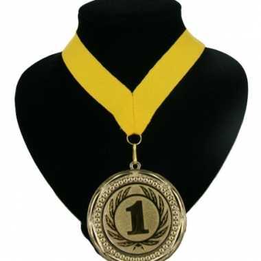 Medaille nr. 1 halslint geel