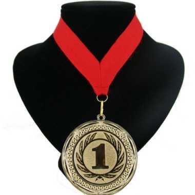 Medaille nr. 1 halslint rood
